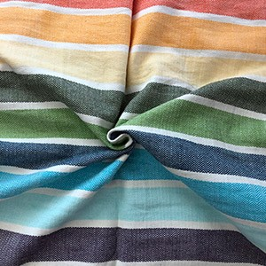 Girasol Herringbone Rainbow 13 stripes
