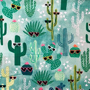 Cacti with sunglasses